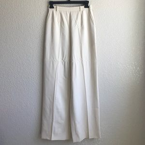 Chanel Classic Style Cream Pants w/side pockets